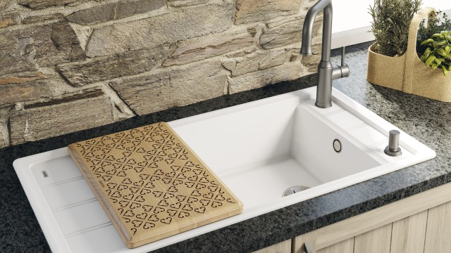The sink for fans of the country-house look: the Blanco Faron XL 6 S sink has particular appeal.