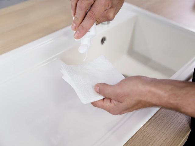 Le nettoyage d'un évier Silgranit®