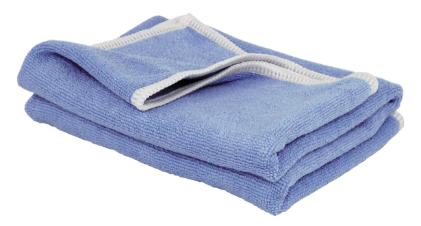 The blue BLANCO Microfibre cloth