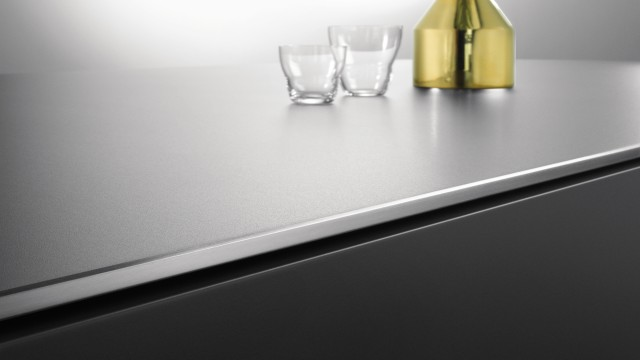 Durinox worktop with a chamfered edge design