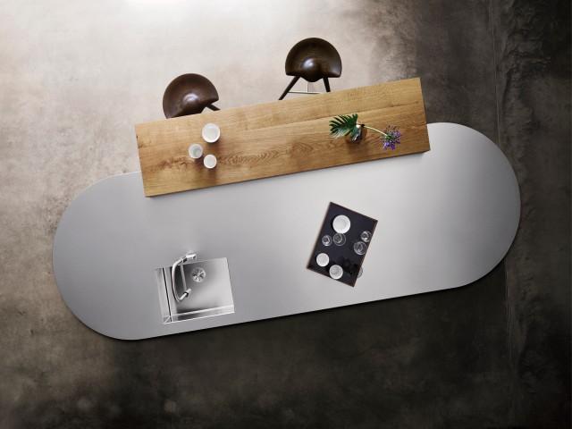 Edelstahlarbeitsplatte aus BLANCO DURINOX