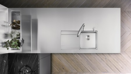 Durinox worktop with weld-in sink