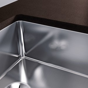 An undermount sink is inserted into the worktop from below and requires a stone worktop.