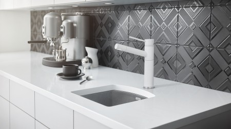 Full Finish Blanco Faucets - Alta Bar Faucet in SILGRANIT White