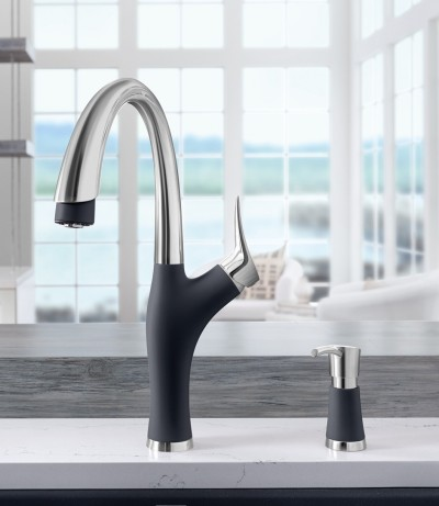 Artona Kitchen Faucet in SILGRANIT Anthracite Dual Finish