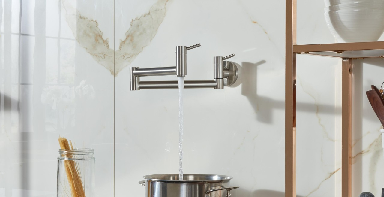 BLANCO CANTATA Wall Mounted Pot Filler Faucet