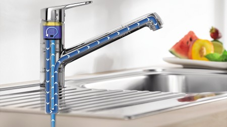 The ceramic cartridge is the centrepiece of a single-lever mixer tap.