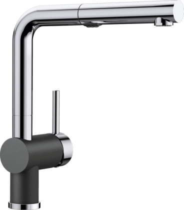Posh Kitchen Faucet in Anthricite//Chrome Dual Finish