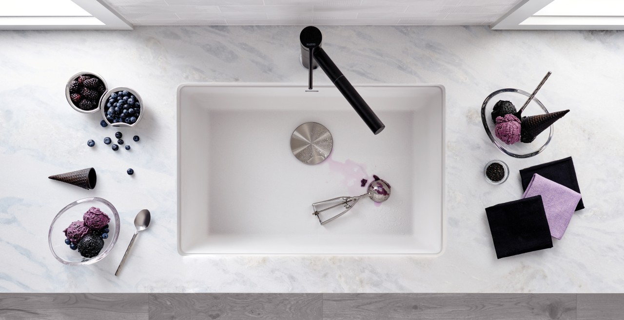 BLANCO PRECIS 24 sink in White SILGRANIT