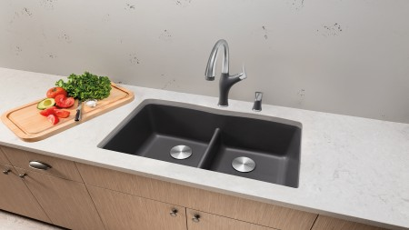 Cinder SILGRANIT sink color
