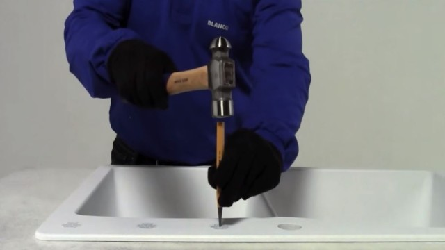 How to punch a hole in a SILGRANIT sink