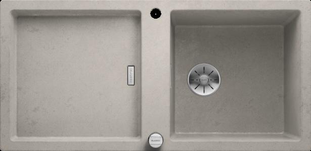 BLANCO ADON XL 6 S, Silgranit PuraDur, Concrete-Style, with InFino, with drain remote control