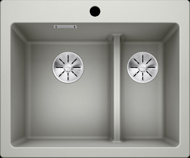 PLEON 6 Split, cuve, évier, cuisine, granit, composite, synthèse, deux cuves, demi cuve, low divide