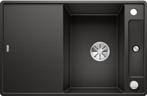 Die kleine Spüle AXIAIII 45 S-F in schwarz Silgranit