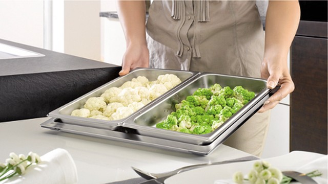 Vegetables like broccoli and cauliflower make the perfect accompaniment and should be steam-cooked gently.