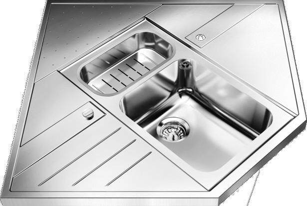 AXIS 9EM Corner Sink