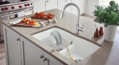 DIAMOND Silgranit Low Divide Kitchen Sinks