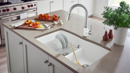 DIAMOND Equal Double Silgranit Kitchen Sink