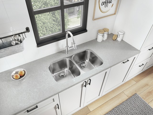 Essential U2 Double Bowl Stainless Steel Kitchen Sink
