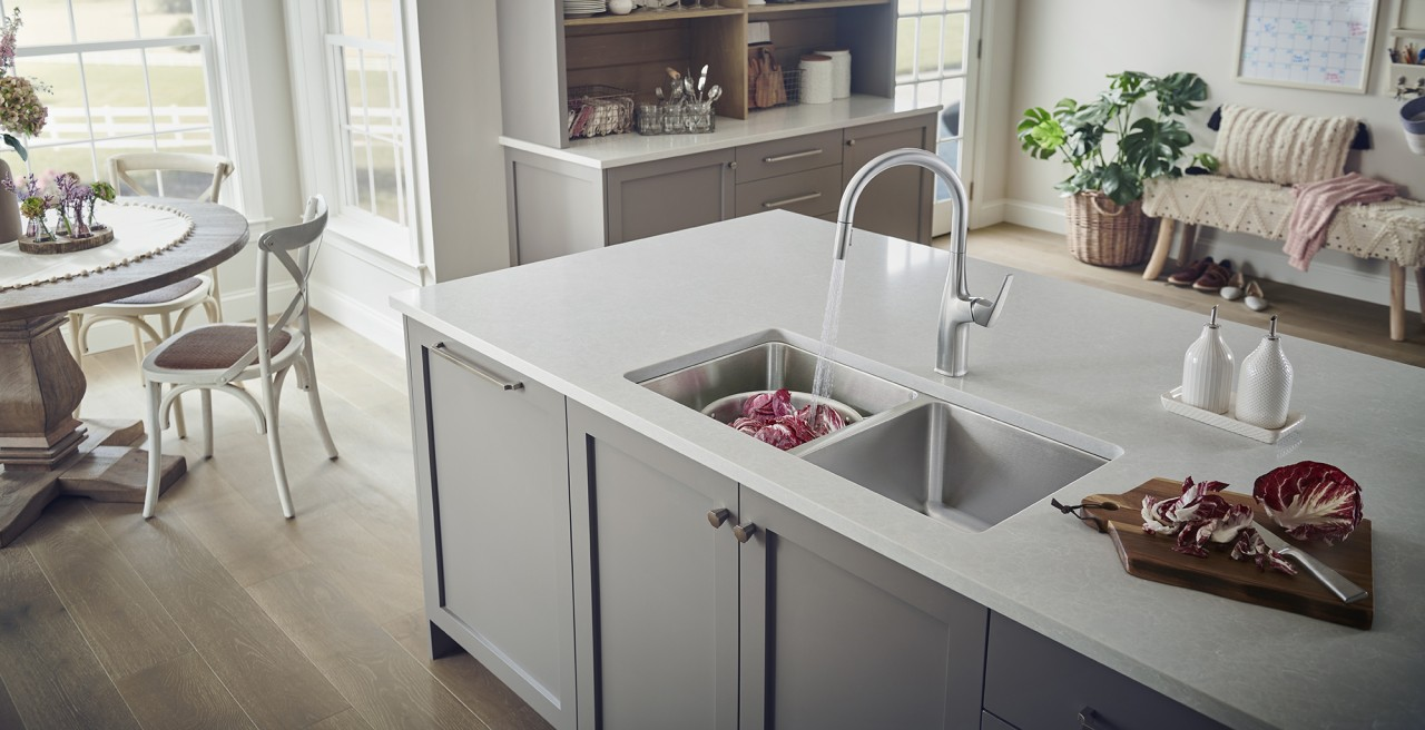 Formera Equal Double Stainless Steel Kitchen Sink - Non-porous, rust and stain resistant