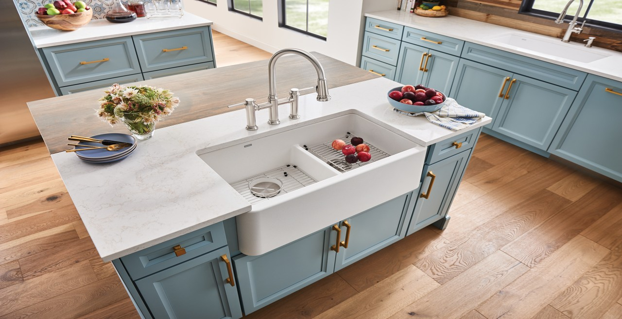 IKON 33 1.75 Silgranit Farmhouse or Apronfront Kitchen Sink