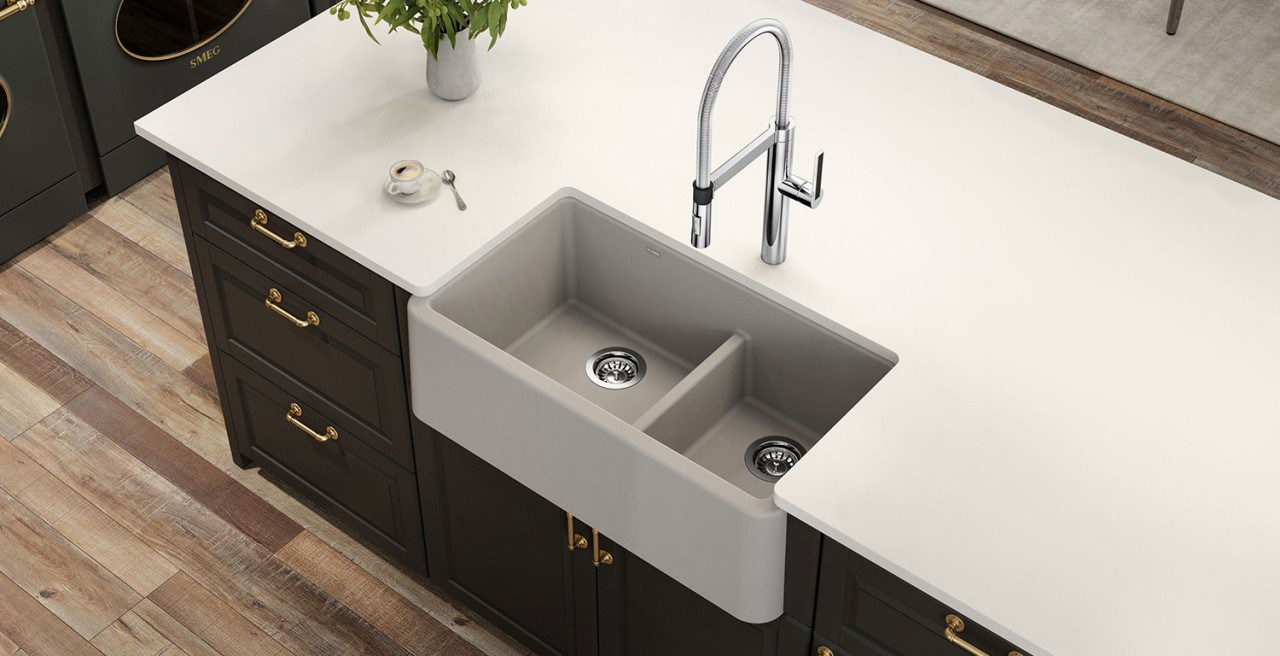 IKON 30 Silgranit Farmhouse Kitchen Sink