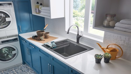 Drop-in Installation - LIVEN Laundry Sink - How to install a sink?
