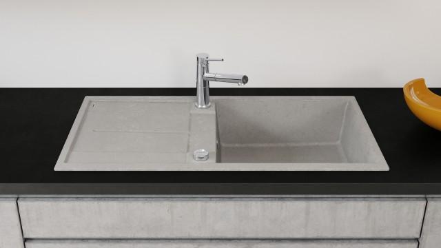 BLANCO METRA XL wirkt als Blickfang in einer Küche mit lebendigen Kontrasten.
