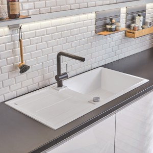 Clean shapes, striking contours – the BLANCO METRA granite sinks made of SILGRANIT PuraDur