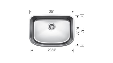 441587 - ONE SUPER SINGLE - BLANCO Discontinued Sink
