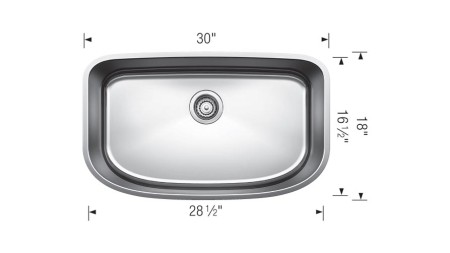 441586 - ONE SUPER SINGLE - BLANCO Discontinued Sink