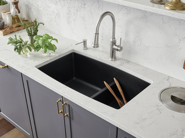 low divide kitchen sinks blanco