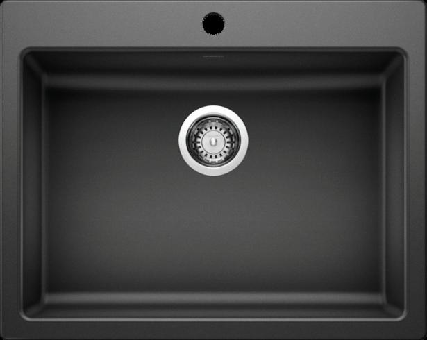 PRECIS ADA Wheelchair Accessible Kitchen Sink in Anthracite SILGRANIT