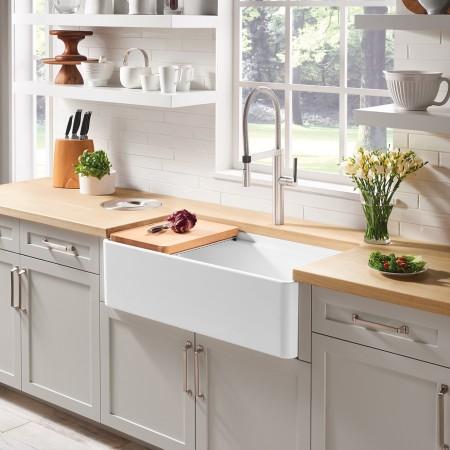 PROFINA Ceramic Farmhouse Kitchen Sink by BLANCO