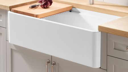 PROFINA farmhouse kitchen sink made with durable fireclay