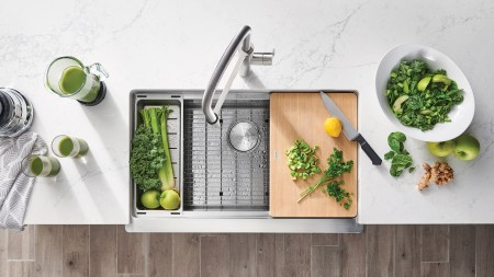 Cleaning a stainless steel kitchen sink by BLANCO CANADA