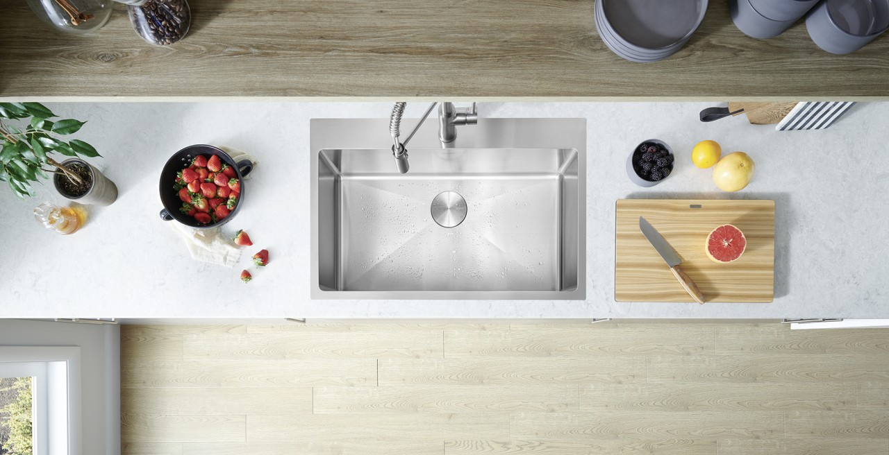 402612 Quatrus R15 31 Drop In Sink - BLANCO stainless steel will keep its brilliance for decades