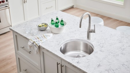 Undermount SInk Installation - RONDO Single Bowl Bar Sink by BLANCO