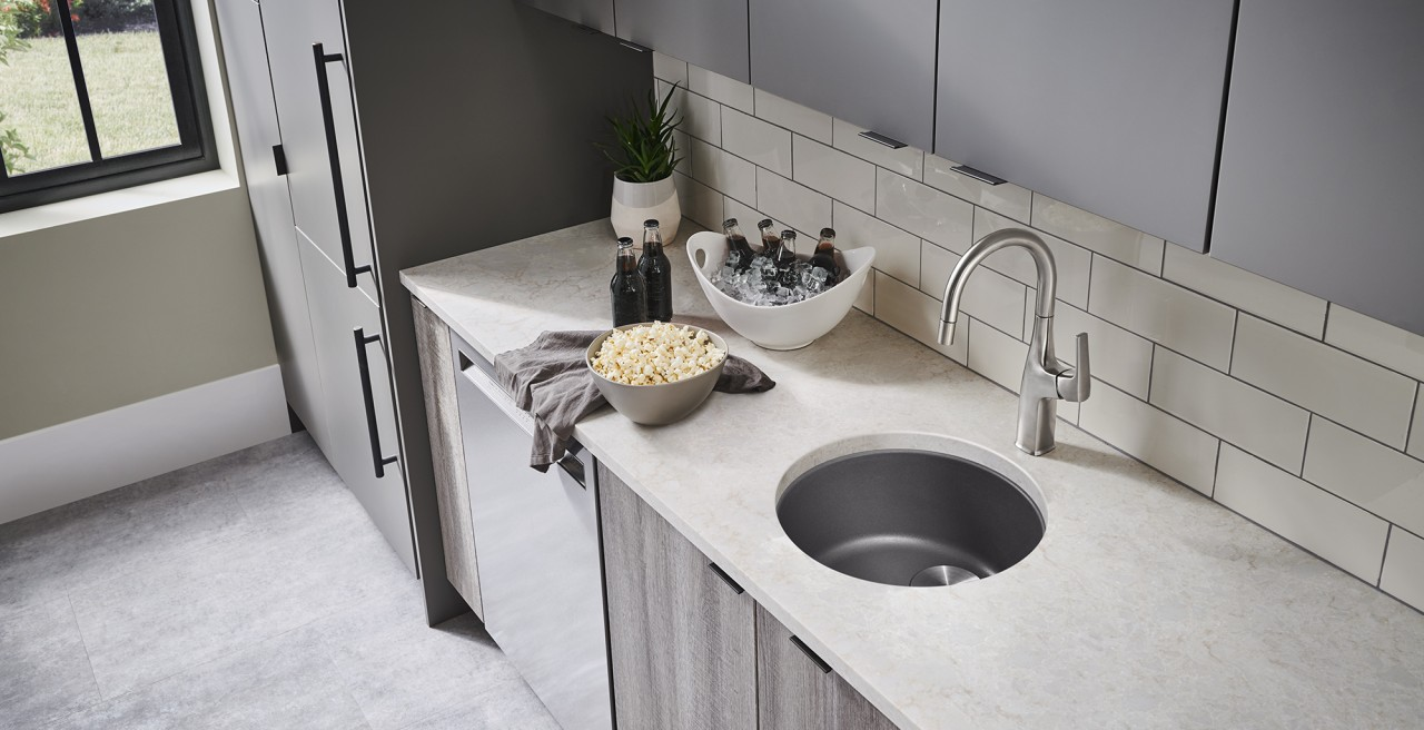 BLANCO RONDO in SILGRANIT Cinder - Bar and Preparation Sink