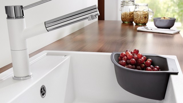 The Corner-Caddy makes a brilliant space-saving sink accessory