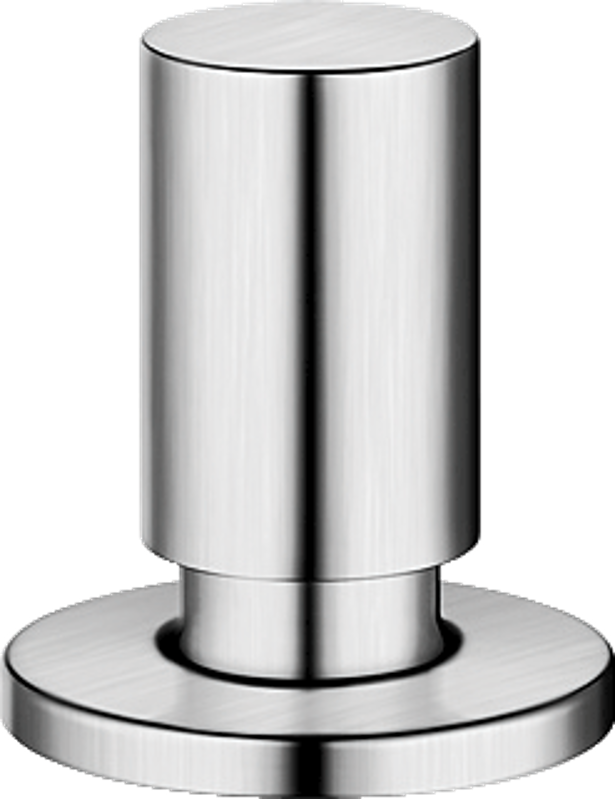 Round pop-up control, stainless steel satin polish