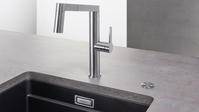 Elegant sink accessories – BLANCO push drain remote control