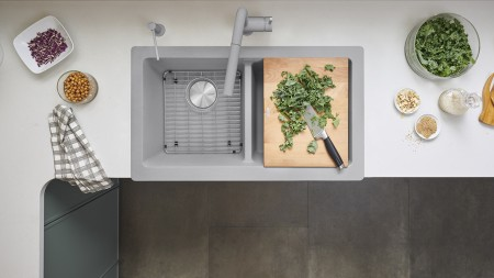 VINTERA Farmhouse Kitchen Sinks are available in single an double bowl configurations