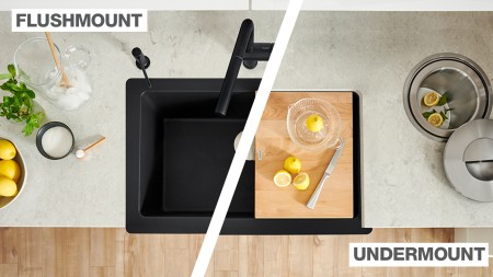 VINTERA Farmhouse Kitchen Sinks can be installed flushmout as well as undermount!