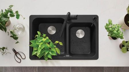 Performa Cascade Kitchen Sink - SILGRANIT Concrete Gray