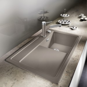 A timeless aesthetic paired with modern functionality – the single-bowl concept from the BLANCO ZENAR sink range