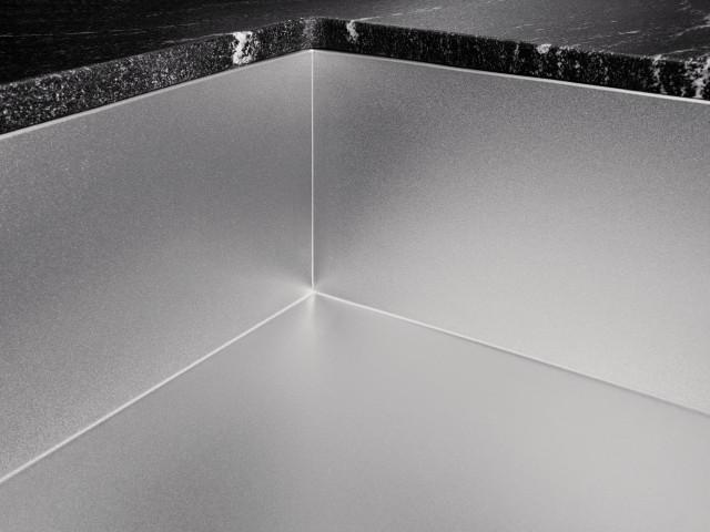 Die ZEROX-Spülen in ausgewählten Modellen auch mit der neuartige Edelstahloberfläche DURINOX