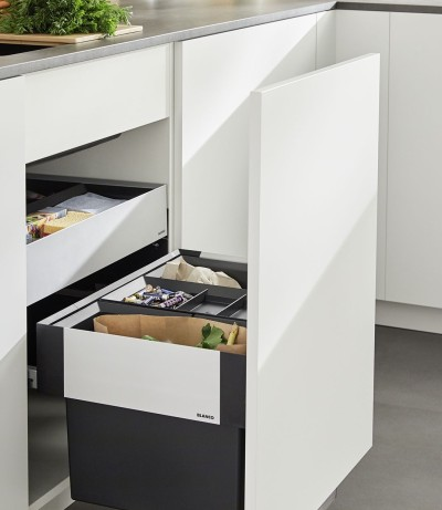 BLANCO offers waste separation solutions for pull-out fronts and drawers