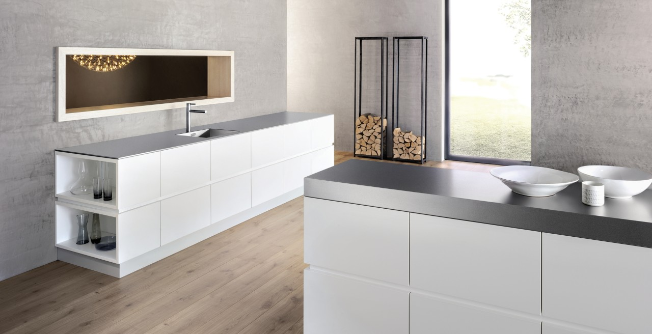 Durinox stainless steel worktops in a puristic style
