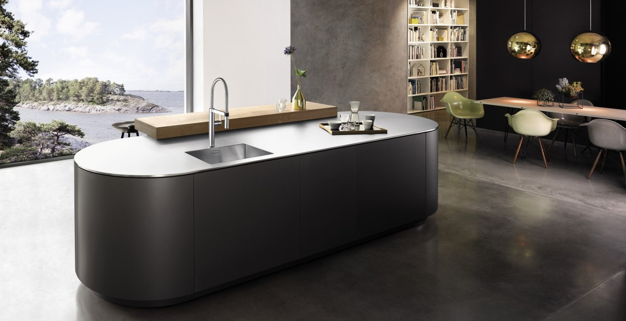 Durinox stainless steel worktops in industrial chic style